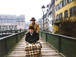 Monsieur Klein by Joseph Losey with Alain Delon and Louis Seigner, 1976 (photo)