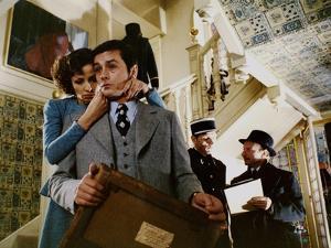 Monsieur Klein by Joseph Losey with Juliette Berto and Alain Delon, 1976 (photo)