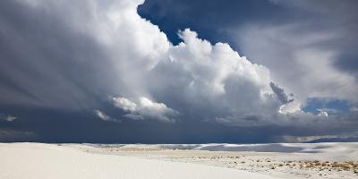 Monsoon Clouds over Dunes in White Sands National Monument-Derek Von Briesen-Photographic Print