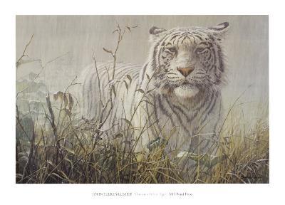 Monsoon- White Tiger (detail)-John Seerey-Lester-Art Print