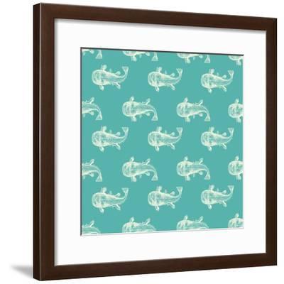 Monster Fish Pattern-Ramona Murdock-Framed Art Print