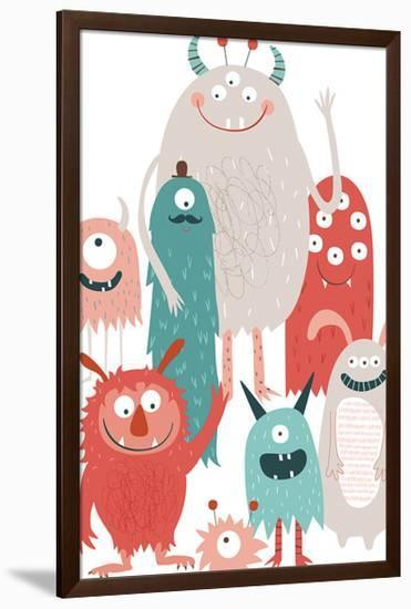 Monster Party-Clara Wells-Framed Giclee Print