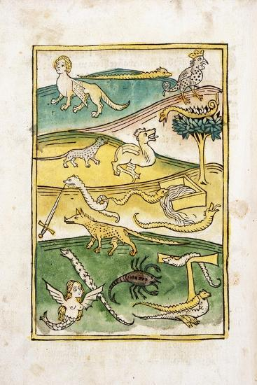 Monsters and Snakes in a Landscape, 1478--Giclee Print
