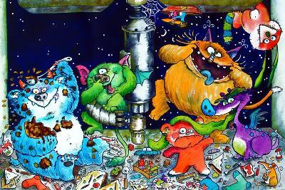 Monsters under the Sink-Maylee Christie-Giclee Print