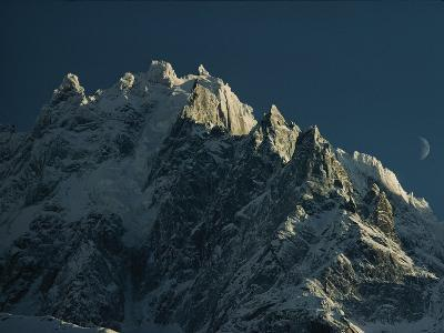 Mont Blanc at Evening with Ridgeline Seen against Sky-George F^ Mobley-Photographic Print