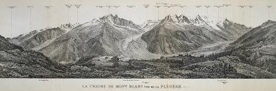 Mont Blanc Massif Mountain Range, France, 20th Century--Giclee Print