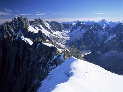 Mont Blanc Range Near Chamonix, Haute-Savoie, French Alps, France-Roy Rainford-Photographic Print