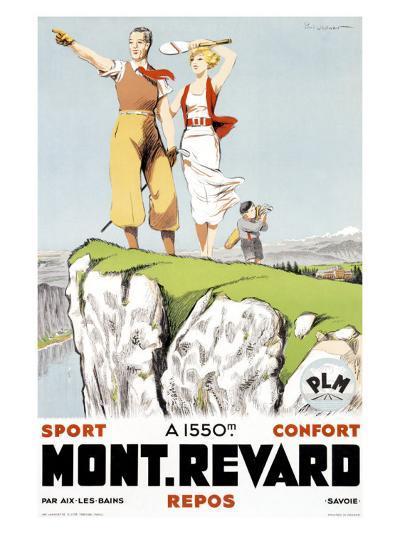 Mont Revard, Tennis and Golf-Paul Ordner-Giclee Print