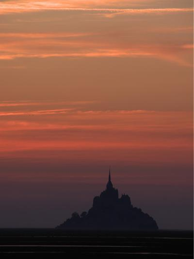 Mont Saint Michel at Night-Philippe Manguin-Photographic Print