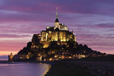 Mont Saint Michel at Sunset-Markus Lange-Photographic Print