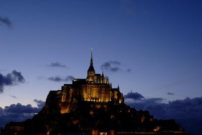 Mont Saint Michel Is a Tidal Island in Normandy, Approximately One Kilometre Off the French Coast- LatitudeStock-Photographic Print