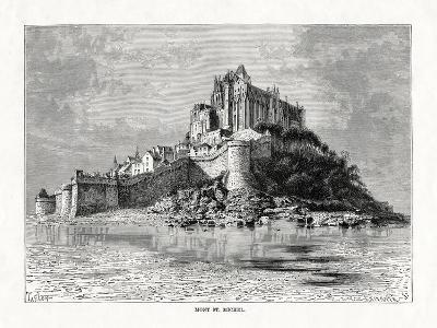 Mont-Saint-Michel, Normandy, France, 1879-C Laplante-Giclee Print