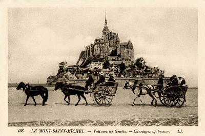 Mont-Saint-Michel, Normandy, France, Early 20th Century--Giclee Print