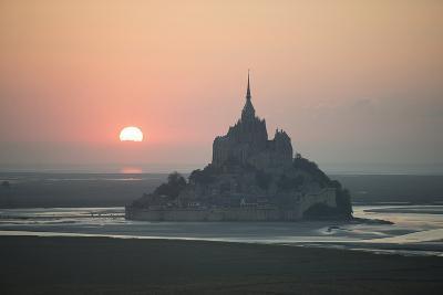Mont Saint Michel Sunset-Philippe Manguin-Photographic Print