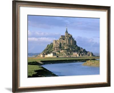 Mont Saint Michel, Unesco World Heritage Site, Manche, Normandy, France-Bruno Morandi-Framed Photographic Print