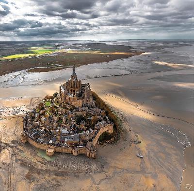 Mont-Saint-Michel-Philip Plisson-Art Print