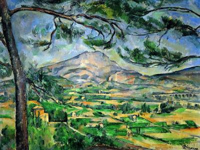 Mont Sainte-Victoire with Large Pine-Tree, circa 1887-Paul C?zanne-Giclee Print