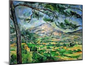 Mont Sainte-Victoire with Large Pine-Tree, circa 1887-Paul Cézanne-Mounted Giclee Print