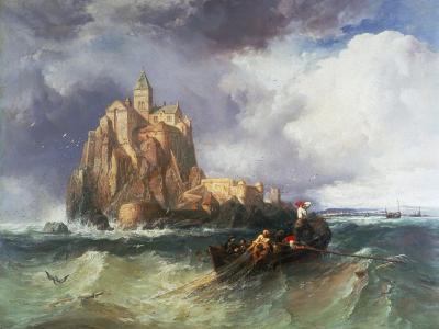Mont St Michel, 1868-James Webb-Giclee Print