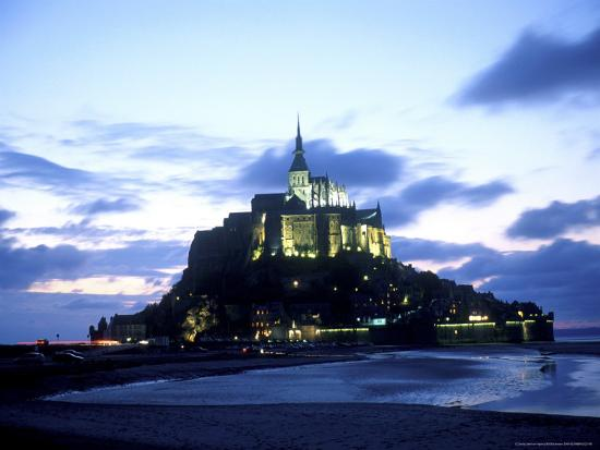 Mont St. Michel Fortress, Normandy, France-Bill Bachmann-Photographic Print