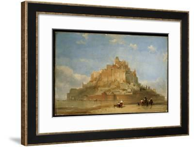 Mont St. Michel from the Sands, 1848-David Roberts-Framed Giclee Print