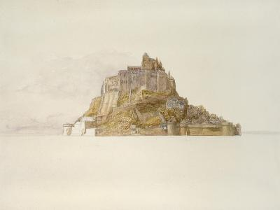 Mont St Michel from the Sands, C. 1876 (Watercolour over Graphite, on Paper)-Alfred William Hunt-Giclee Print