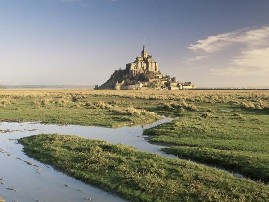 Mont St. Michel, Unesco World Heritage Site, Basse Normandie, France-Michael Busselle-Photographic Print