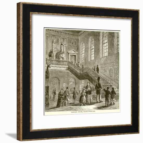 Montagu House, Grand Staircase--Framed Giclee Print