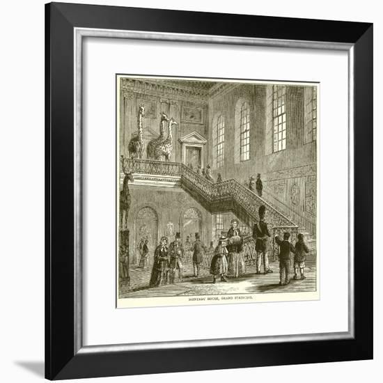 Montagu House, Grand Staircase--Framed Giclee Print