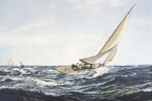 A Winning Tack by Montague Dawson