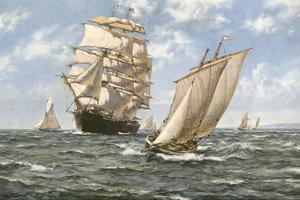 Ahoy! by Montague Dawson