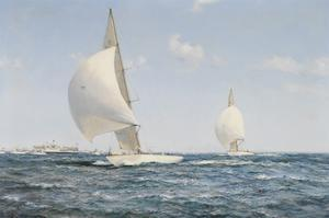 Americas Cup by Montague Dawson