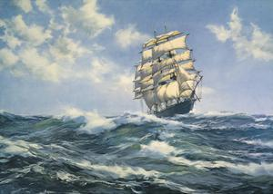 Breaking out the Royals by Montague Dawson