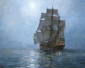 Crescent Moon II by Montague Dawson