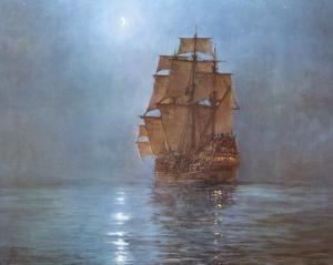 Crescent Moon by Montague Dawson