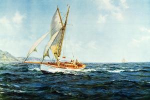 Fine Weather and Fair Wind 1946 by Montague Dawson