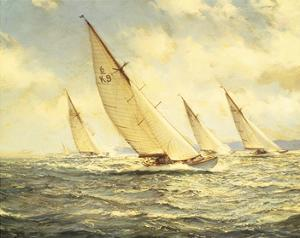 Glittering Waves by Montague Dawson