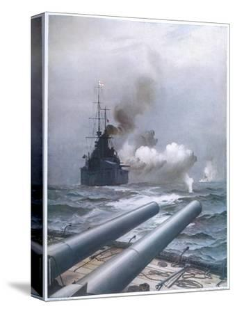 """In a Naval Engagement off Heligoland the """"Lion"""" Sinks a German Cruiser"""