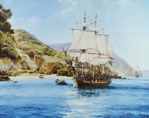 Pirates Cove by Montague Dawson