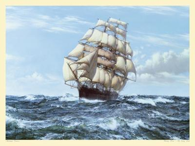 Racing Home, The Cutty Sark by Montague Dawson
