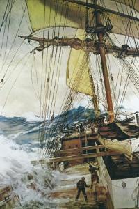 Rising Wind by Montague Dawson