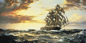 Squally Weather by Montague Dawson