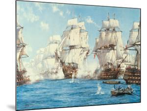 The Battle of Trafalgar by Montague Dawson