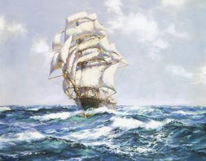 The Blue Seas - The 'Eliza Bars's' by Montague Dawson