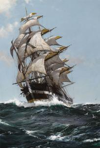 The Rising Moon by Montague Dawson