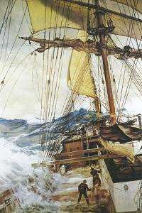 The Rising Wind by Montague Dawson