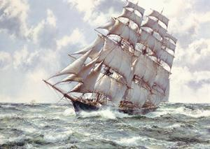 Up Channel II by Montague Dawson