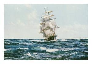 Up Channel, the Lahloo by Montague Dawson