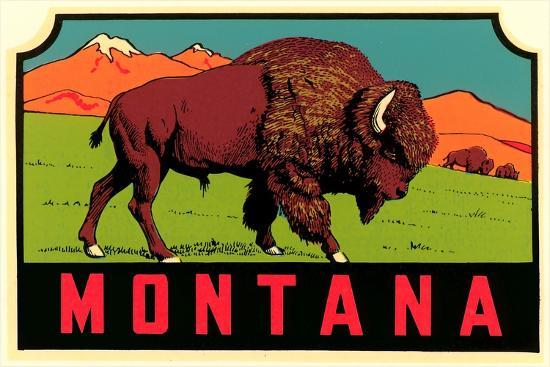 Montana Decal--Premium Giclee Print
