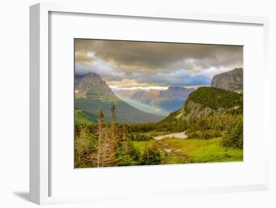 Montana, Glacier National Park, Logan Pass. Sunrise on Mountain Landscape-Jaynes Gallery-Framed Photographic Print